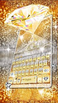 Gold Vivid Diamond Keyboard Theme screenshot 5