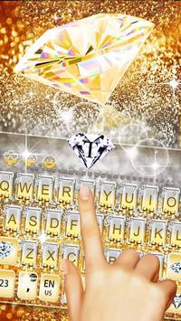 Gold Vivid Diamond Keyboard Theme screenshot 9
