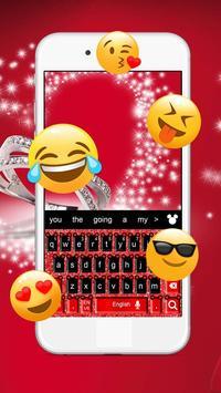 Red  Minny Cute Bowknot Micky Keyboard Theme screenshot 1