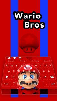 Super Cute Mario Run Keyboard theme screenshot 1