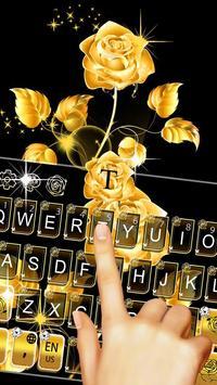 Gold Rose Keyboard Theme 포스터