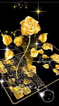 Gold Rose Keyboard Theme 스크린샷 1
