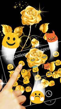 Gold Rose Keyboard Theme 스크린샷 5