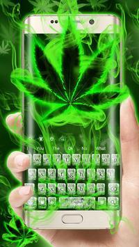 (FREE 2018)Weed Rasta Smoke Keyboard Theme screenshot 3