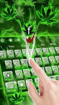 (FREE 2018)Weed Rasta Smoke Keyboard Theme screenshot 1