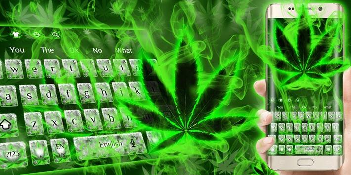 (FREE 2018)Weed Rasta Smoke Keyboard Theme screenshot 4