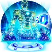 Neon 3D Robot Keyboard icon