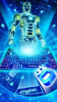 Neon 3D Robot Keyboard poster