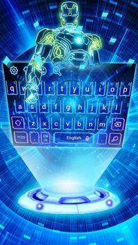 Neon 3D Robot Keyboard screenshot 1