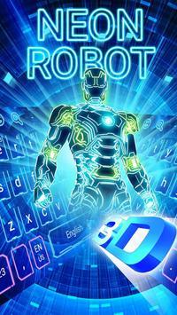 Neon 3D Robot Keyboard screenshot 2