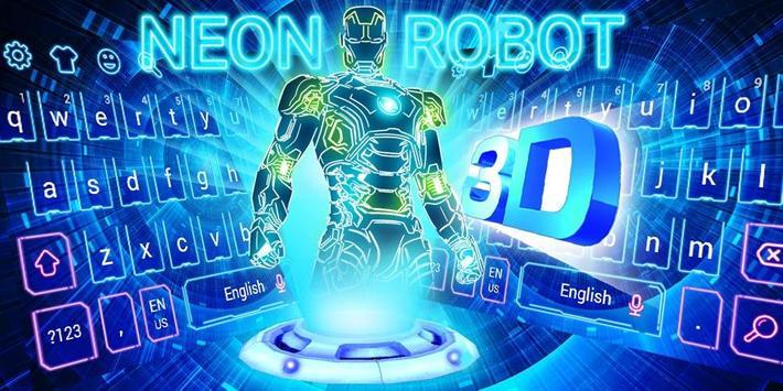 Neon 3D Robot Keyboard screenshot 4