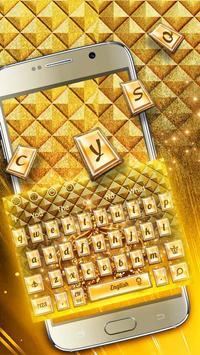 Shine gold crown Keyboard poster