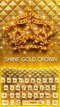 Shine gold crown Keyboard apk screenshot