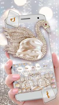 Glitter Swan Keyboard Theme poster