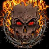 Fire Skull Keyboard Theme icon