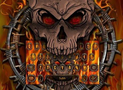 Fire Skull Keyboard Theme screenshot 2