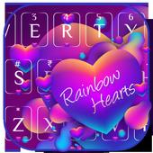 Rainbow Hearts Keyboard Theme icon