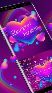 Rainbow Hearts Keyboard Theme poster