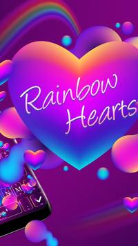 Rainbow Hearts Keyboard Theme screenshot 1