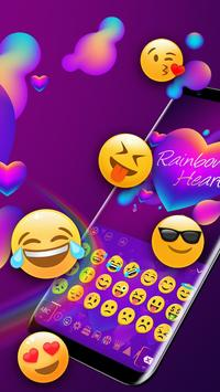 Rainbow Hearts Keyboard Theme screenshot 2