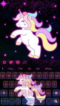 Galaxy Cute Unicorn Keyboard Theme screenshot 3