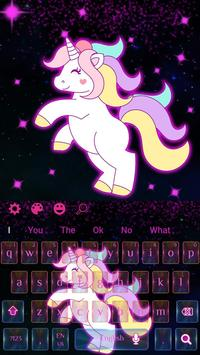 Galaxy Cute Unicorn Keyboard Theme screenshot 3