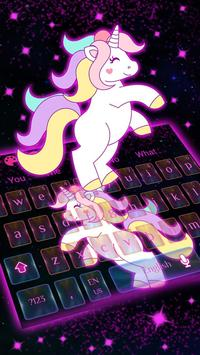 Galaxy Cute Unicorn Keyboard Theme poster