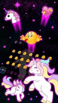 Galaxy Cute Unicorn Keyboard Theme screenshot 1