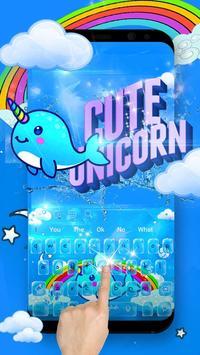 Jubilant Vivid Unicorn Typewriter Theme poster