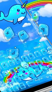 Jubilant Vivid Unicorn Typewriter Theme apk screenshot