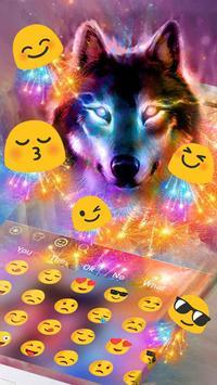 Howling Color Wolf Typewriter Theme screenshot 1