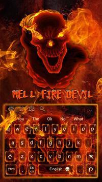 Hell fire devil Keyboard poster