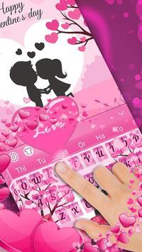 Pink Love Keyboard Theme poster