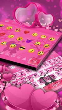 Pink Love Keyboard Theme screenshot 2