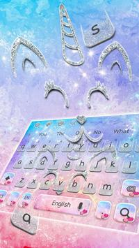 Silvered Unicorn cat KeyBoard Theme poster