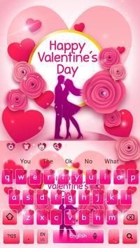 Romantic Valentine Day Keyboard screenshot 3
