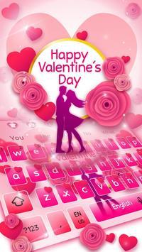 Romantic Valentine Day Keyboard poster