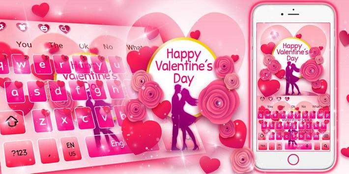 Romantic Valentine Day Keyboard screenshot 4