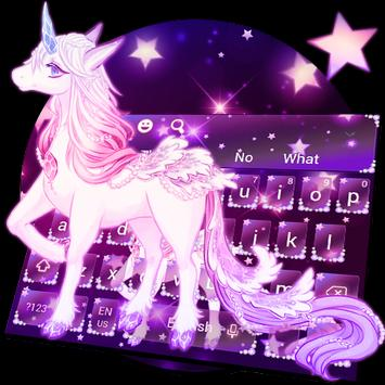 Galaxy Unicorn Keyboard Theme screenshot 17
