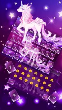Galaxy Unicorn Keyboard Theme screenshot 1