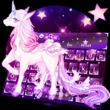 Galaxy Unicorn Keyboard Theme screenshot 23
