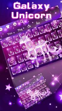 Galaxy Unicorn Keyboard Theme screenshot 9