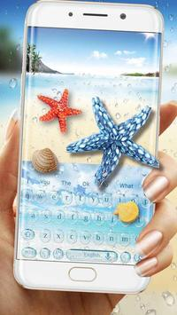 Starfish Keyboard Theme for Samsung S8 poster