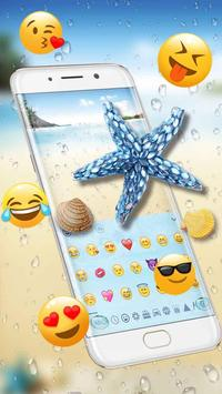 Starfish Keyboard Theme for Samsung S8 screenshot 2