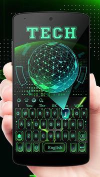 Green 3D Holographic Technology Earth Keyboard screenshot 3