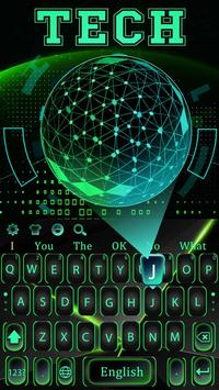 Green 3D Holographic Technology Earth Keyboard screenshot 4