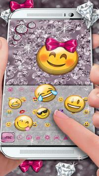 Bows & Diamonds Premium Keyboard Theme screenshot 2