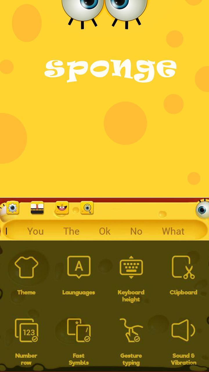Yellow SpongeBob keyboard Cartoon keyboard for Android - APK Download