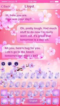 2019 Beautiful SMS Keyboard Themes screenshot 3