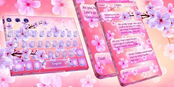 2019 Beautiful SMS Keyboard Themes screenshot 7